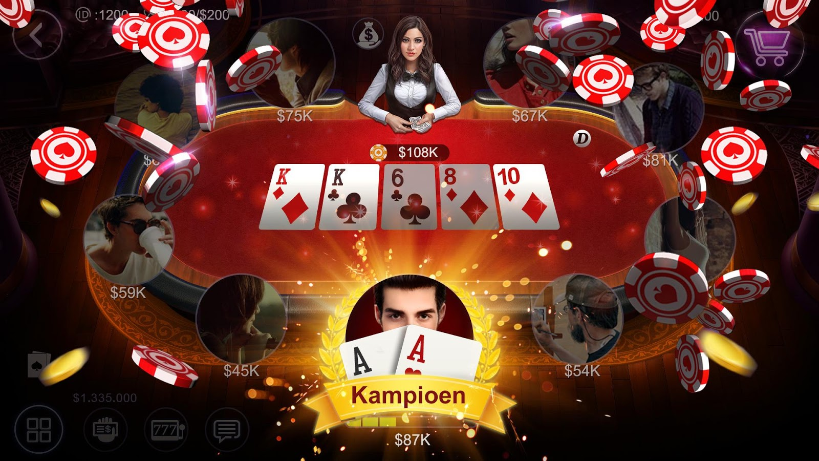 Holland Poker- screenshot