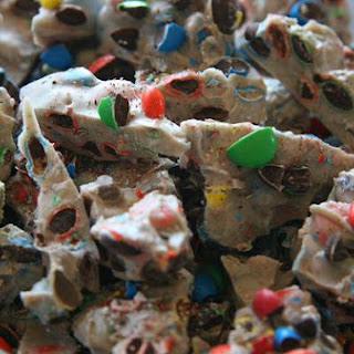 M&M White Chocolate Road Bark