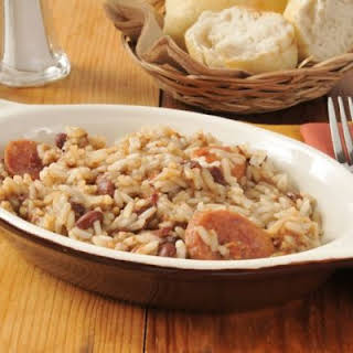 Easy Red Beans and Rice Casserole.