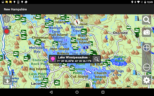 Aqua Map New Hampshire Lakes- screenshot thumbnail