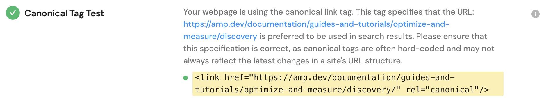 線上測試眾多項目中,取得Canonical設置網址