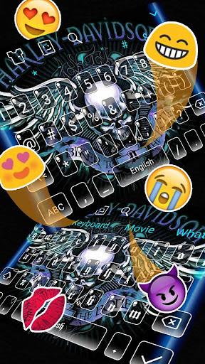 Blue Angry Skull Keyboard 10001005 screenshots 3