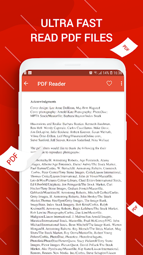 PDF Reader for Android Android App Screenshot