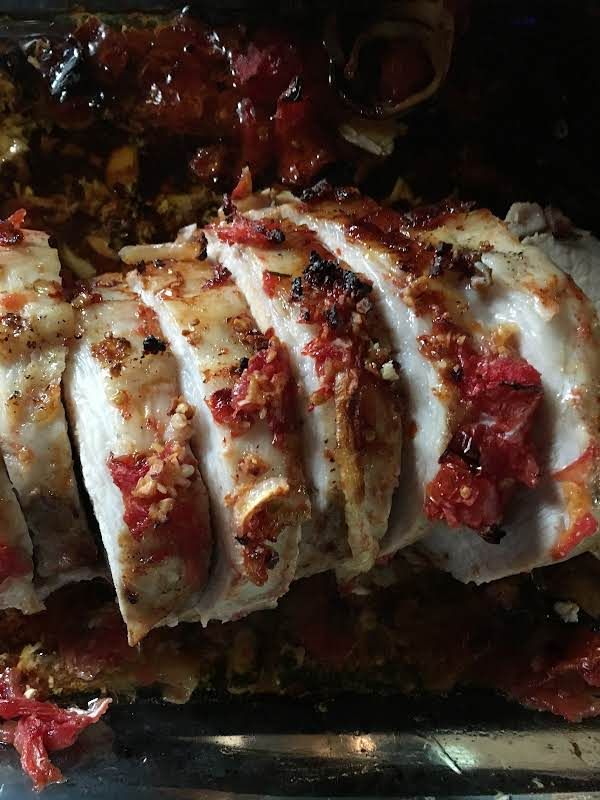 Roast Pork With Tomatoes And Onion Recipe
