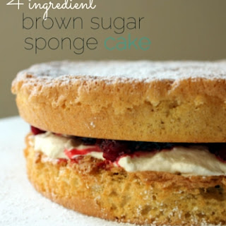 Brown Sugar Sponge Cake.