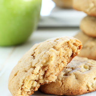 Thick and Chewy Gluten Free Apple Peanut Butter Cookies Recipe