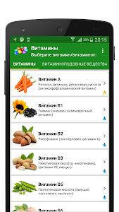 Витамины в продуктах питания screenshot 0