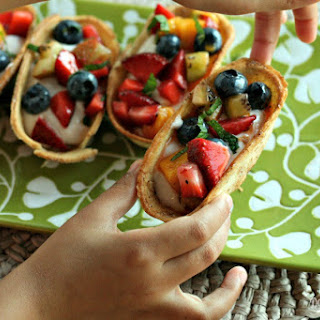Baked Churro Yogurt Cups With Fruit Salsa