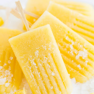 Boozy Pineapple Ice Pops