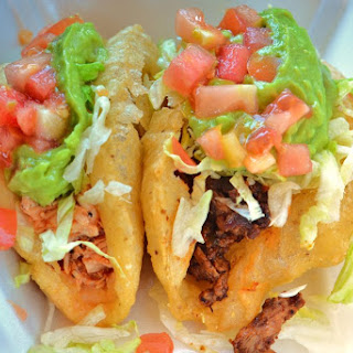 Beef Puffy Tacos.