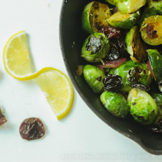 Caramelized Brussels Sprouts with Lemons and Cherries Recipe