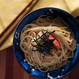 Japanese Mentaiko Spaghetti (Pasta With Spicy Cod Roe and Butter Sauce).
