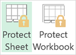 Sheets protected (appear with lock) in 2013  version