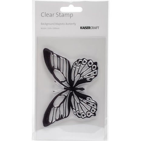Kaisercraft Clear Stamp 6X4 - Majestic Butterfly