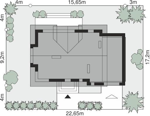 Dom przy Modrzewiowej 15 - Sytuacja