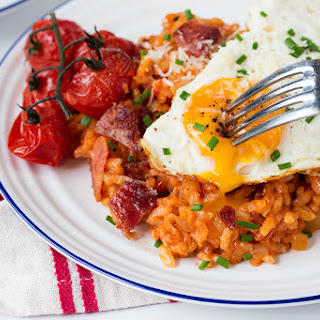 How to Make Bacon and Egg Risotto for Breakfast.