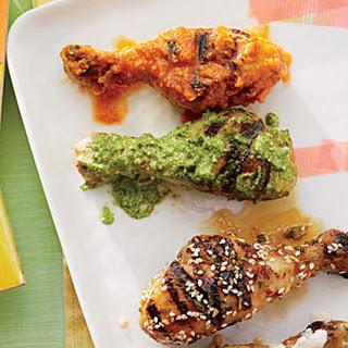 Chicken Drumsticks with Cilantro Pesto