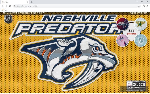 NHL Nashville Predators New Tab Theme