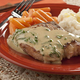 Creamy Basil Pork Chops Recipe