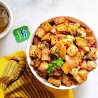 Delhi Style Fruit Chaat Recipe (Homemade Kulle Chaat Of North India)