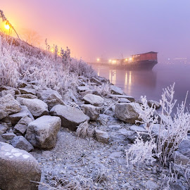 Winter time by Matej Kotula - Landscapes Waterscapes ( magic, bratislava, night, danube, surise, winter, slovakia )