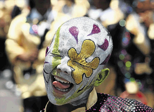 Adenaan Brown, 12, of the Fabulous Woodstock Starlites, during the Cape Minstrels Street Parade in Cape Town. (File photo)