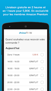 Amazon Prime Now – Vignette de la capture d'écran