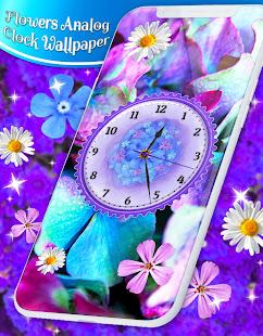Flowers Analog Clock Live Wallpaper for PC-Windows 7,8,10