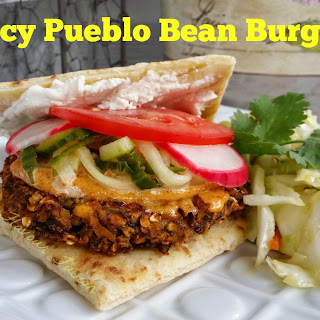 Spicy Pueblo Bean Burger.