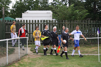Photo: 06/08/11 v Eversley (Combined Counties League Div 1) 2-3 - contributed by Martin Wray