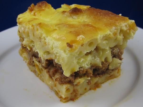 Pasticchio (greek Lasagna) Recipe