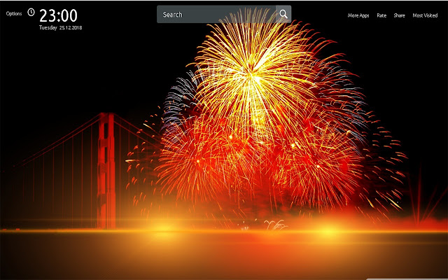 new year fireworks wallpapers theme