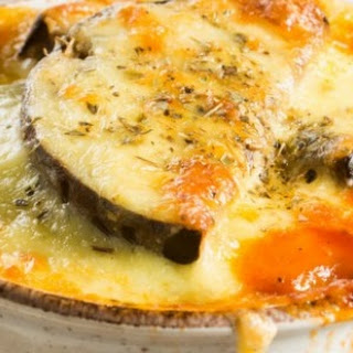 Aubergine Cheese Bake.