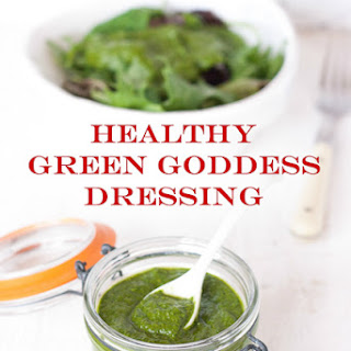 Healthy & Vegan Green Goddess Dressing.