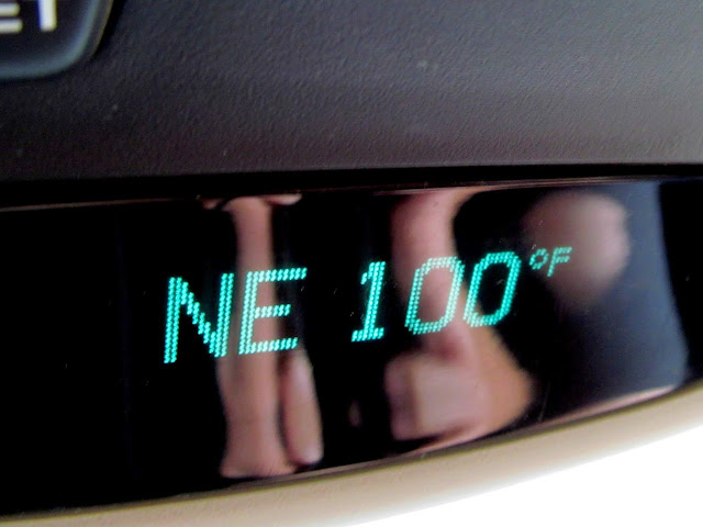 100 degrees on I-70 near the state line