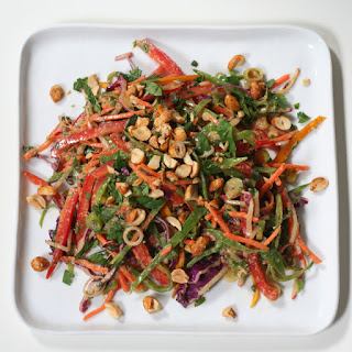 Crunchy Thai Veggie Salad with Peanut Dressing Recipe
