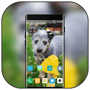 Pet animal theme for lovely fall wallpaper icon