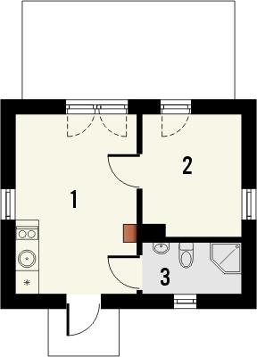 Domek 4 - Rzut parteru