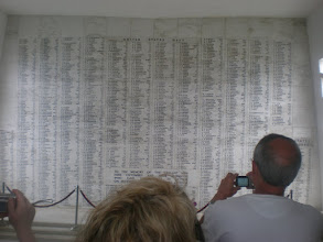 Photo: wall of names of the 1,177 men who died when the USS Arizona was hit