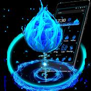 3D الأزرق النار الكرة موضوع APK