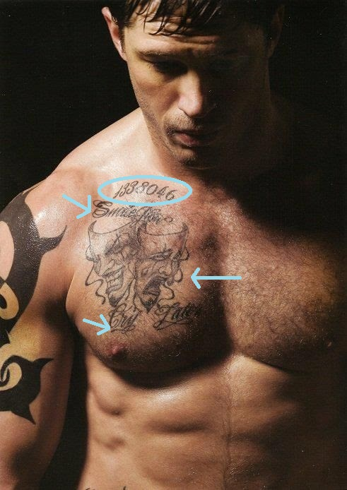 Tom Hardy's Right Pectoral & Collar Bone Tattoos
