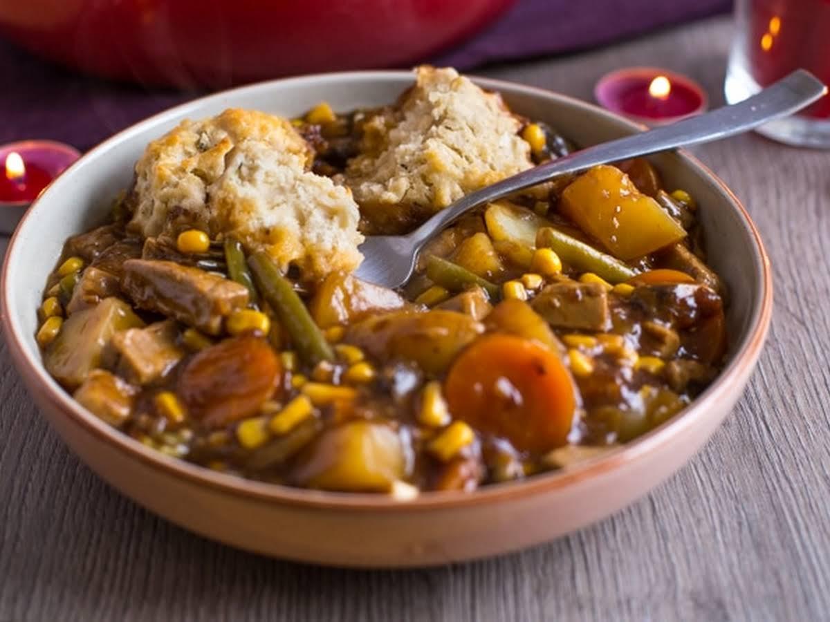 Vegetarian Beef Stew With Easy Suet Dumplings