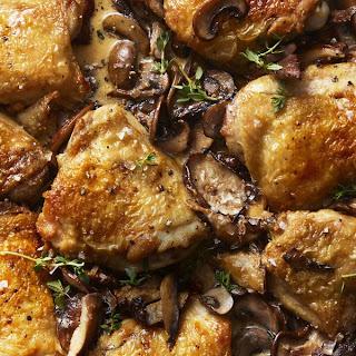 Mushroom Chicken Skillet with Herbed Cream Sauce.