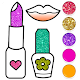 Beauty Drawing Pages Make Up Coloring Book Glitter APK