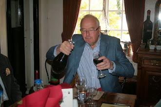 Photo: Chairman Derek jealously guards his wine