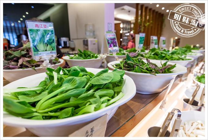 上竹林食草館養生汆燙鍋-野菜2