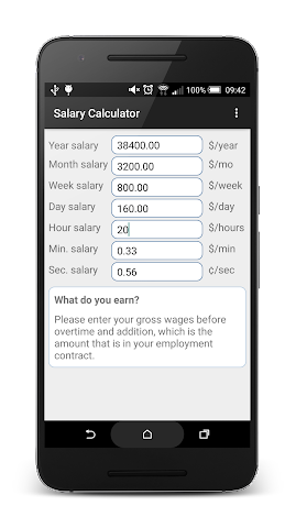 android Simple Salary Calculator Screenshot 0