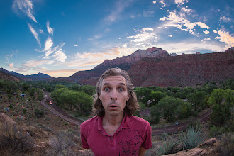 Photo: My face expression when I realized that it was our last evening at Zion - #selfie with #fisheye :-)