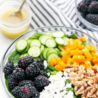 Blackberry Spinach Salad With Light Balsamic Vinaigrette