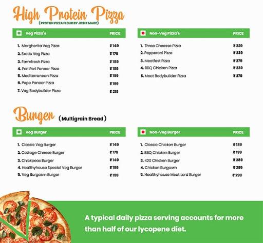 Healthy House menu 8